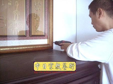 N10524.廂櫃神桌 電腦雷射雕刻神聯佛心 祖德