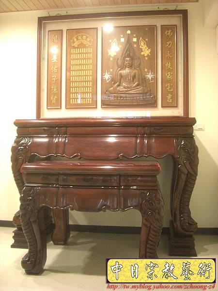 N13201.大象頭神桌桌腳 泰國佛半浮雕佛聯