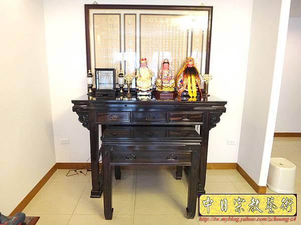 N13701.高級黑 檀木神桌 5尺 1黑檀佛桌.JPG