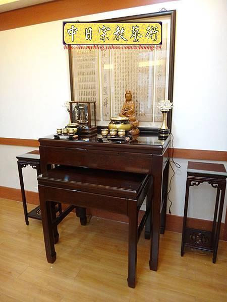 N15001.佛堂設計~素雅型花梨木神桌.JPG