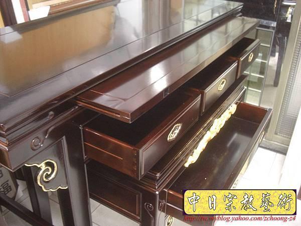 M5508.黑紫檀明式鑲金仿古神桌佛桌.JPG