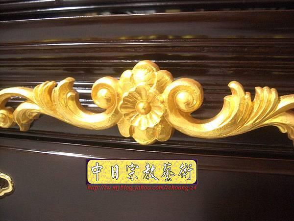M5510.黑紫檀明式鑲金仿古神桌佛桌.JPG