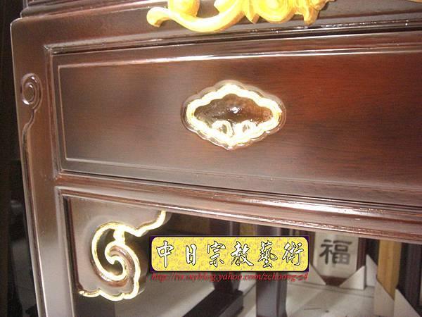 M5511.黑紫檀明式鑲金仿古神桌佛桌.JPG