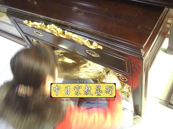 M5514.黑紫檀明式鑲金仿古神桌佛桌.JPG