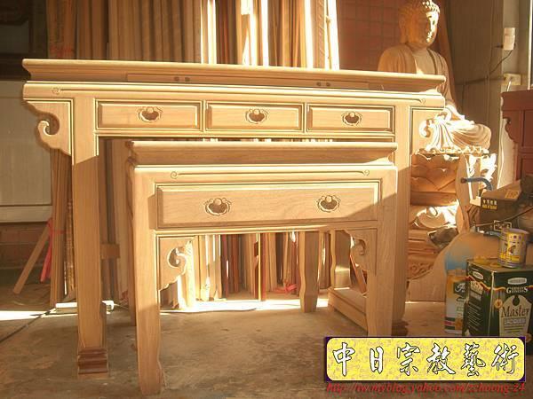 M6301.高級柚木神桌佛桌(未上漆)純卡榫製作.JPG