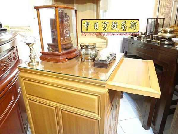 M6709.2尺檜木櫃型神桌 小型公媽桌佛桌.JPG