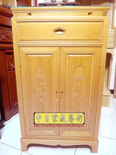 M6710.2尺檜木櫃型神桌 小型公媽桌佛桌.JPG