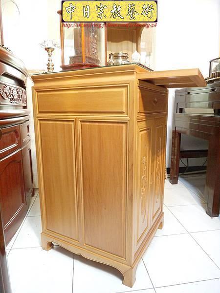 M6711.2尺檜木櫃型神桌 小型公媽桌佛桌.JPG