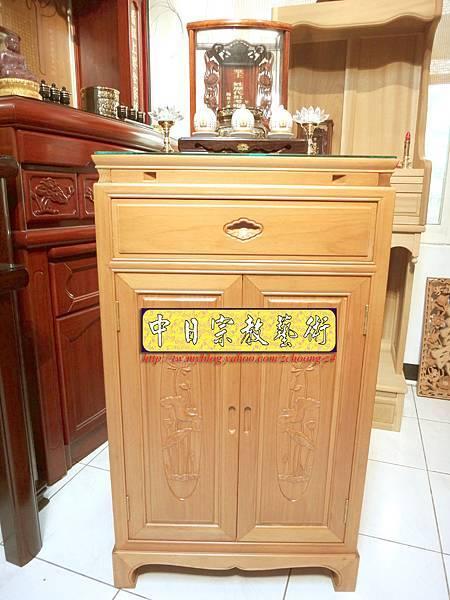 M6712.2尺檜木櫃型神桌 小型公媽桌佛桌.JPG
