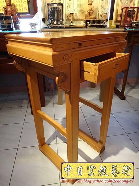 N7404小神桌樣式~2尺2檜木小佛桌.JPG