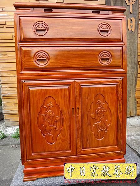 M7202.柚木公媽櫃神桌2尺2寬