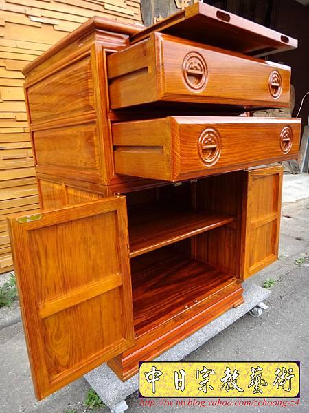 M7209.柚木公媽櫃神桌2尺2寬