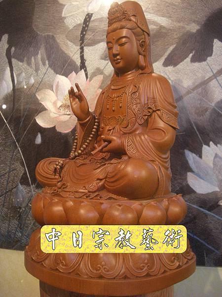 L2012.梢楠木觀音(卍字衣袖).JPG