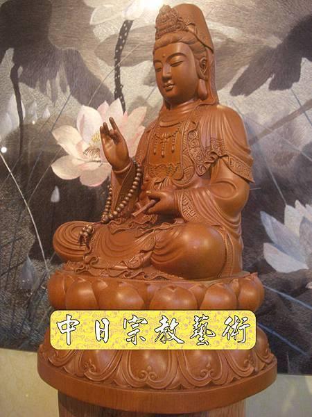 L2019.梢楠木觀音(卍字衣袖).JPG