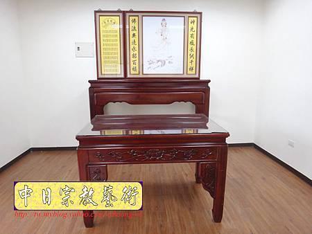 N15402.漢式神桌樣式 佛桌聯-站龍觀音神明彩.JPG