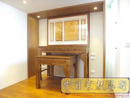 N17202.淺色系神桌 手工半浮雕神明聯(5尺1設計).JPG