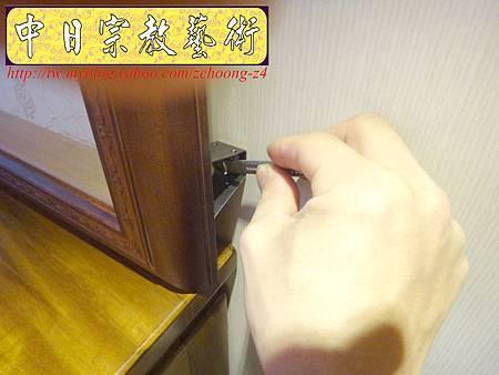 N17210.淺色系神桌 手工半浮雕神明聯(5尺1設計).JPG