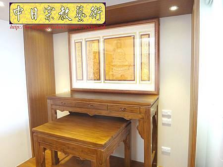 N17215.淺色系神桌 手工半浮雕神明聯(5尺1設計).JPG