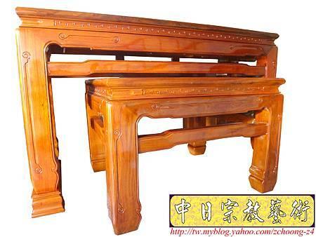 M8201.柚木7尺神桌 鹿港型粗腳神桌.JPG