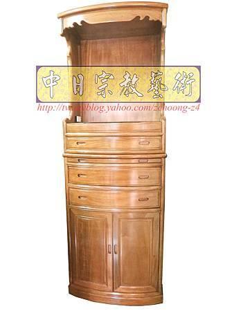M9201.小尺寸神桌神明櫥佛櫥公媽櫥~寬2尺2高度6尺4實木製作.JPG