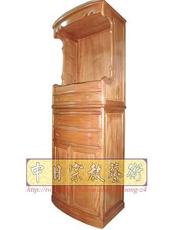 M9203.小尺寸神桌神明櫥佛櫥公媽櫥~寬2尺2高度6尺4實木製作.JPG