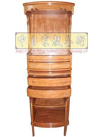 M9205.小尺寸神桌神明櫥佛櫥公媽櫥~寬2尺2高度6尺4實木製作.JPG