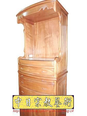 M9215.小尺寸神桌神明櫥佛櫥公媽櫥~寬2尺2高度6尺4實木製作.JPG
