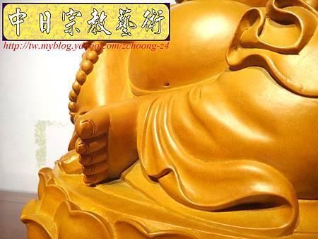 L3008.彌勒佛木雕佛像 一貫道彌勒菩薩(樟木).JPG