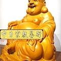 L3010.彌勒佛木雕佛像 一貫道彌勒菩薩(樟木).JPG
