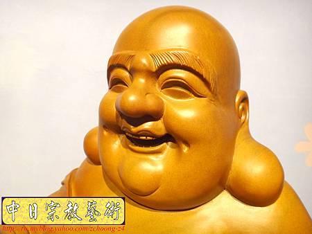 L3011.彌勒佛木雕佛像 一貫道彌勒菩薩(樟木).JPG