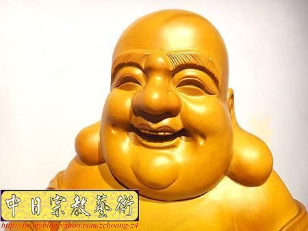 L3012.彌勒佛木雕佛像 一貫道彌勒菩薩(樟木).JPG