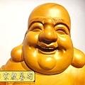 L3013.彌勒佛木雕佛像 一貫道彌勒菩薩(樟木).JPG