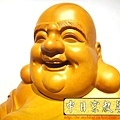L3014.彌勒佛木雕佛像 一貫道彌勒菩薩(樟木).JPG