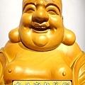 L3015.彌勒佛木雕佛像 一貫道彌勒菩薩(樟木).JPG