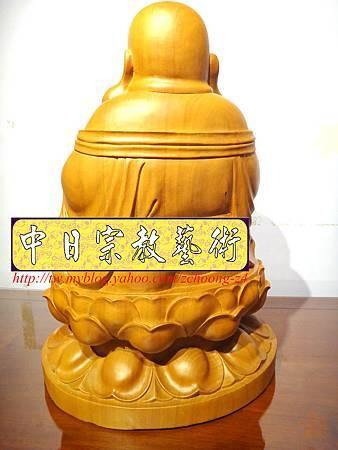 L3018.彌勒佛木雕佛像 一貫道彌勒菩薩(樟木).JPG