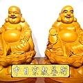 L3020.彌勒佛木雕佛像 一貫道彌勒菩薩(樟木).JPG