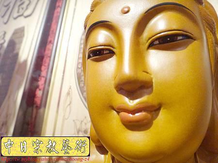 L3113.神桌神像雕刻特輯~觀世音菩薩木雕佛像 1尺6高度-樟木.JPG