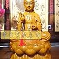 L3119.神桌神像雕刻特輯~觀世音菩薩木雕佛像 1尺6高度-樟木.JPG