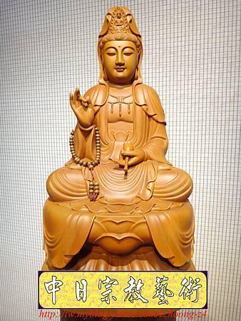 L3202.神桌佛像雕刻~台灣國寶梢楠木觀世音菩薩佛像.JPG