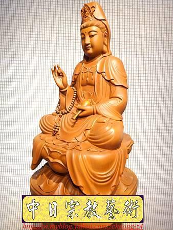 L3208.神桌佛像雕刻~台灣國寶梢楠木觀世音菩薩佛像.JPG