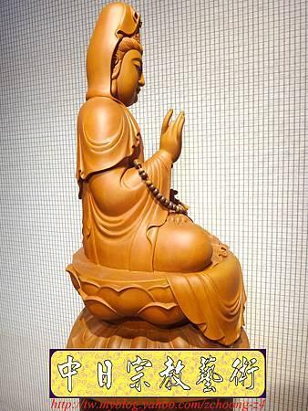 L3212.神桌佛像雕刻~台灣國寶梢楠木觀世音菩薩佛像.JPG