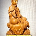 L3213.神桌佛像雕刻~台灣國寶梢楠木觀世音菩薩佛像.JPG