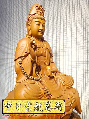 L3214.神桌佛像雕刻~台灣國寶梢楠木觀世音菩薩佛像.JPG