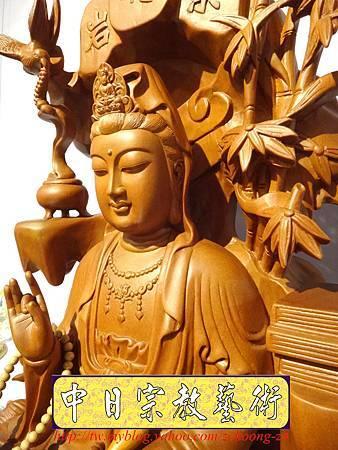 L3305.紫竹岩觀音 肖楠木竹林觀音木雕佛像.JPG