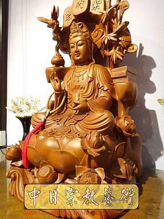 L3307.紫竹岩觀音 肖楠木竹林觀音木雕佛像.JPG