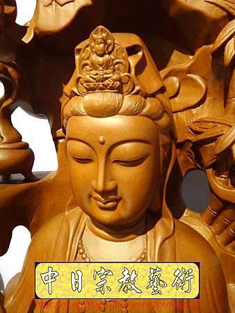 L3312.紫竹岩觀音 肖楠木竹林觀音木雕佛像.JPG