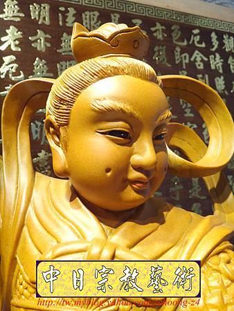 L3408.三太子神像雕刻 站龍太子爺.JPG