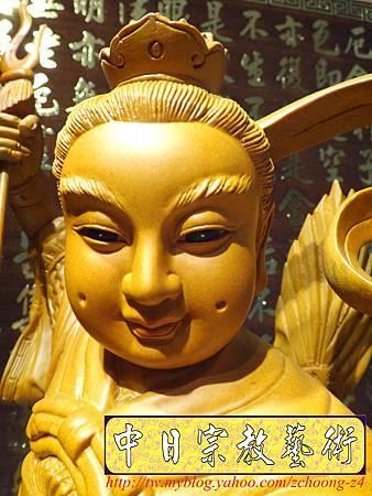 L3412.三太子神像雕刻 站龍太子爺.JPG