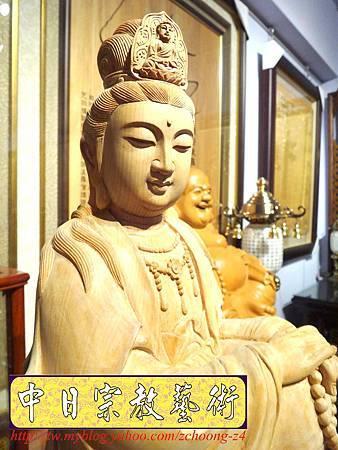 L3501.神桌佛像雕刻自在觀音木雕神像 神明貼座.JPG