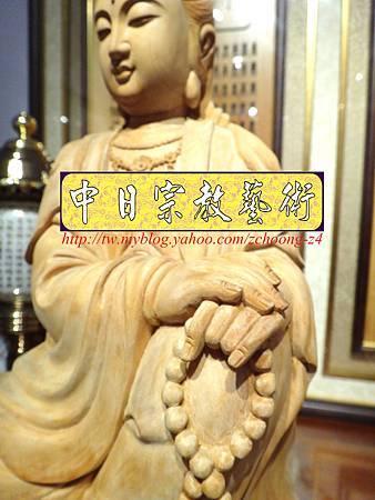 L3503.神桌佛像雕刻自在觀音木雕神像 神明貼座.JPG